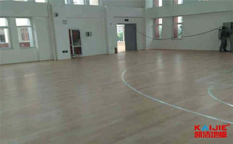 学校实木运动地板施工技术