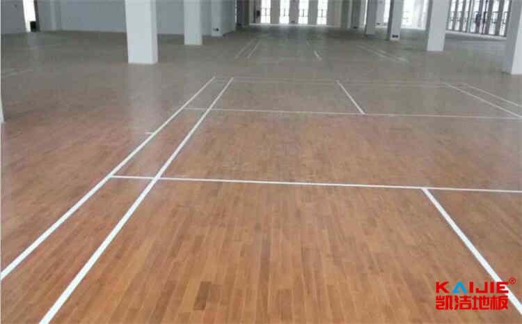 海口企口篮球地板施工技术