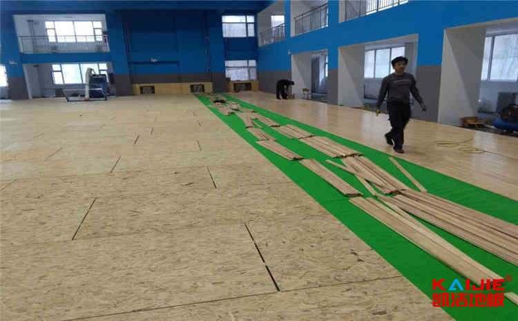 上海硬木企口体育地板施工技术