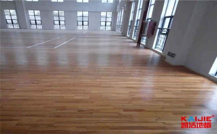 内蒙古硬木企口体育地板怎么安装