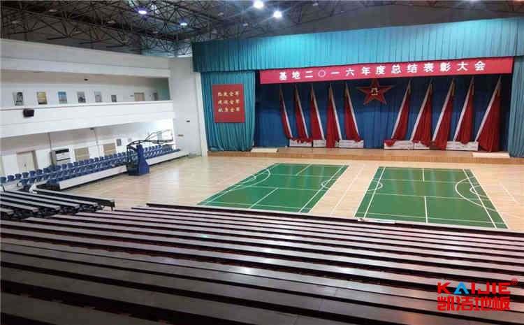 松木篮球场地木地板主辅龙骨结构