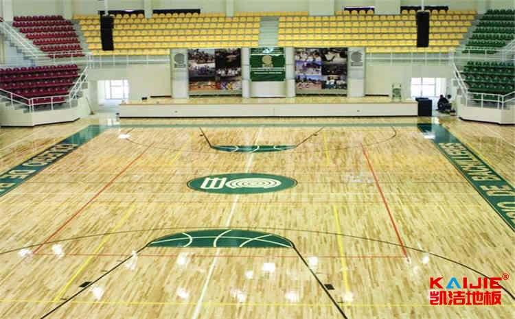 拼装篮球实木运动地板厚度