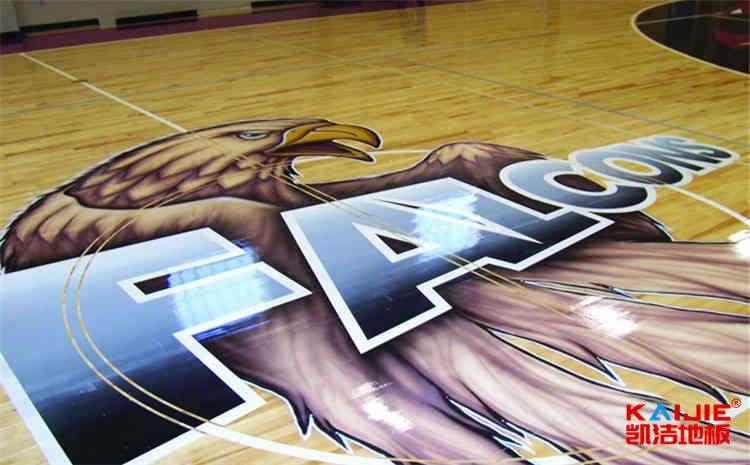 济南柞木篮球场地板图片