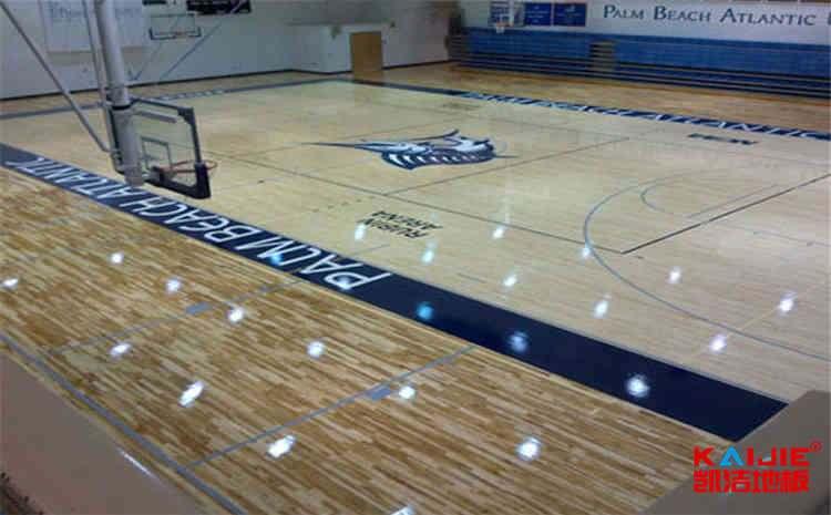 赛事场馆篮球场地板保养