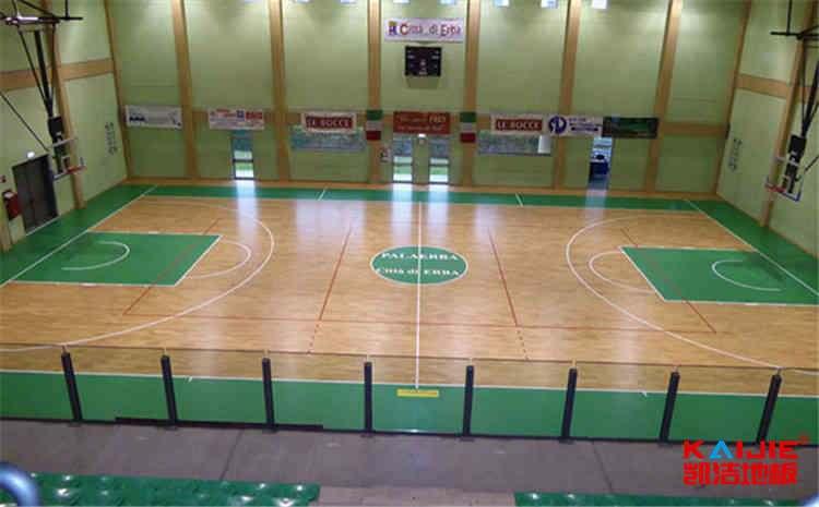 内蒙古柞木篮球地板施工技术