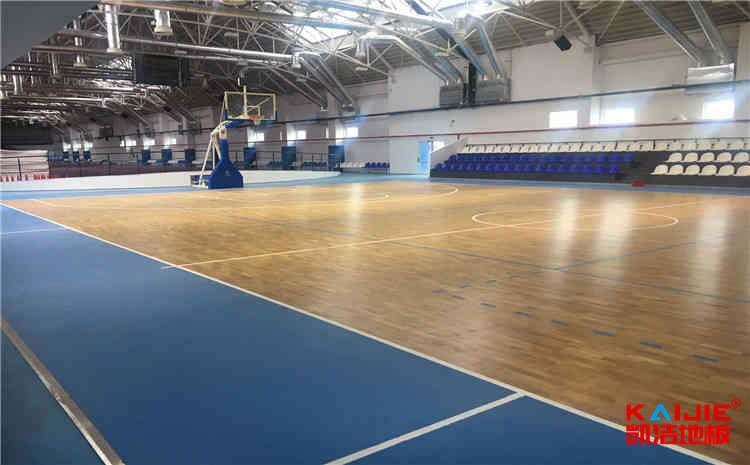 学校木地板篮球场报价