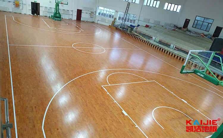 内蒙古枫桦木篮球地板打磨翻新