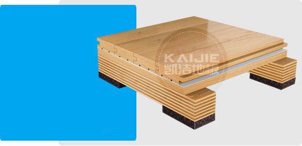 单层龙骨结构运动木地板