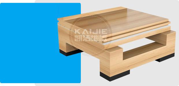 双层龙骨结构运动木地板