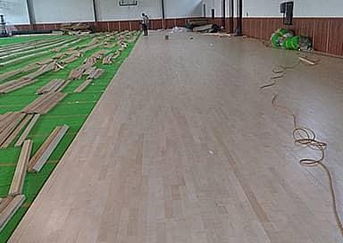 运动场馆木地板铺装