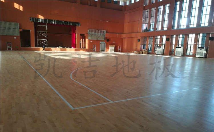 河南焦作中学体育馆木地板项目案例