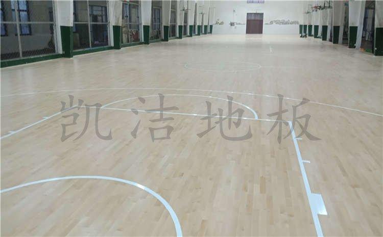 河北沧州体育学校体育馆木地板案例图片