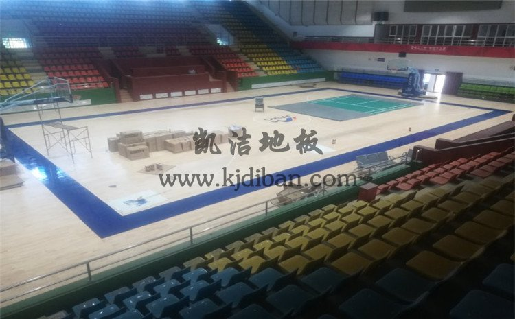 山西晋城凤凰山煤矿体育馆木地板