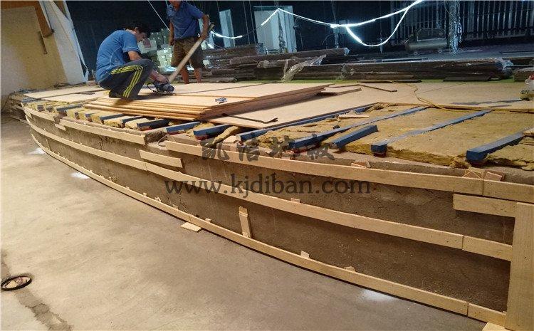 乐山市铜河广场剧院舞台实木运动地板案例