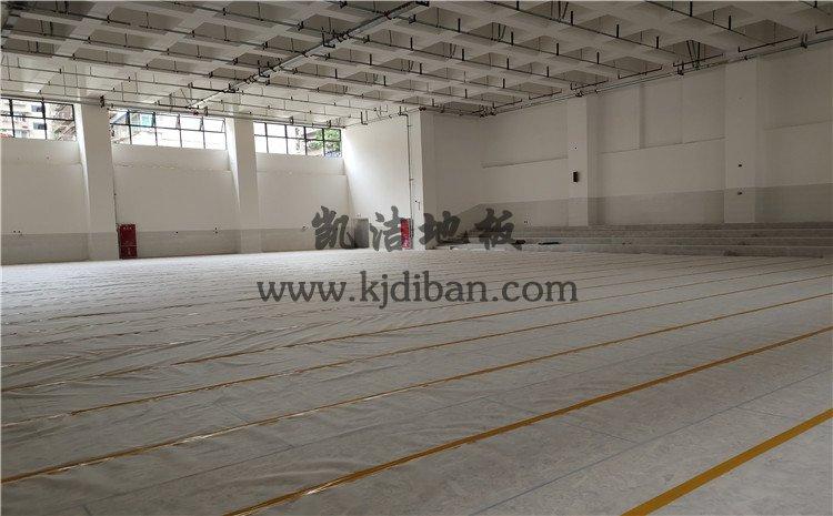 四川绵阳实验中学体育馆木地板项目